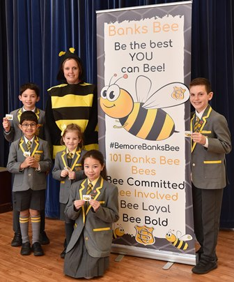 SCHOOL ADOPTS MANCHESTER'S BEE TO BUILD COMMUNITY SPIRIT